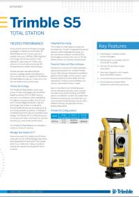 Geotools Europe GNSS Kft - Prospektus - Kezelési kézikönyv TRIMBLE S5 Total Station EN