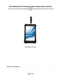 Geotools Europe GNSS Kft - Prospektus - Kezelési kézikönyv STONEX S70G - UT30 Cube-a Androidos szoftverrel HUN