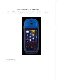 Geotools Europe GNSS Kft - Prospektus - Kezelési kézikönyv STONEX S7G GNSS SurvCE szoftver HUN