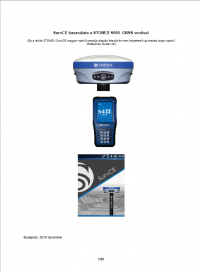 Geotools Europe GNSS Kft - Prospektus - Kezelési kézikönyv STONEX SurvCE S900 GNSS vevővel S4HII HUN