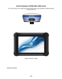Geotools Europe GNSS Kft - Prospektus - Kezelési kézikönyv STONEX SurvPC S900 GNSS vevővel UT20 Win10 tablet HUN