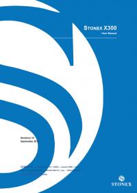 Geotools Europe GNSS Kft - Prospektus - Kezelési kézikönyv STONEX X300 User Manual EN