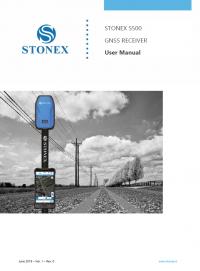 Geotools Europe GNSS Kft - Prospektus - Kezelési kézikönyv STONEX S500 GNSS Receiver User Manual EN