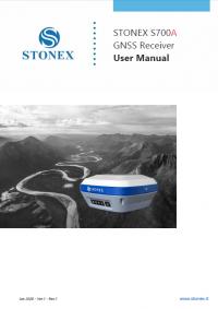 Geotools Europe GNSS Kft - Prospektus - Kezelési kézikönyv STONEX S700A GNSS Receiver User Manual EN