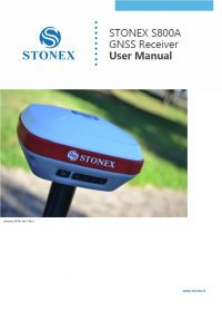Geotools Europe GNSS Kft - Prospektus - Kezelési kézikönyv STONEX S800A GNSS Receiver User Manual EN