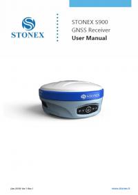 Geotools Europe GNSS Kft - Prospektus - Kezelési kézikönyv STONEX S900 GNSS Receiver User Manual EN