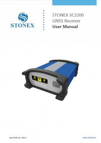 Geotools Europe GNSS Kft - Prospektus - Kezelési kézikönyv STONEX SC2200 GNSS Receiver User Manual EN