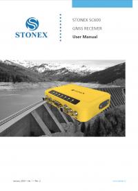 Geotools Europe GNSS Kft - Prospektus - Kezelési kézikönyv STONEX SC600 GNSS Receiver User Manual EN