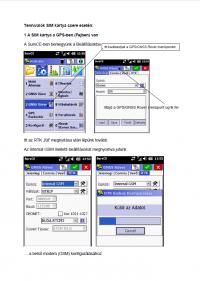 Geotools Europe GNSS Kft - Prospektus - Kezelési kézikönyv Tennivalók SIM kártya csere esetén